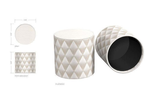 Via Motif International Custom Pearl Diamond Stitched Toilet