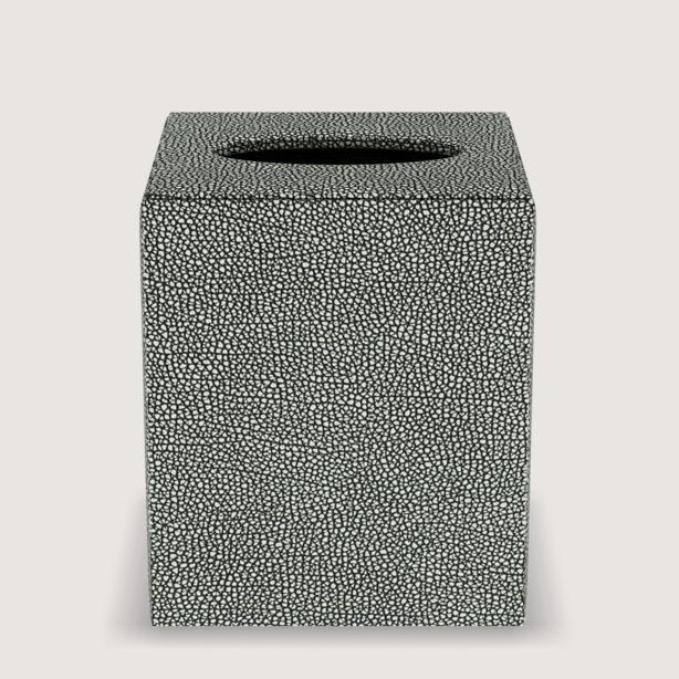 via motif products faux shagreen tissue box cover 521pls